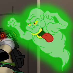 Slimer, drawn by The Gneech