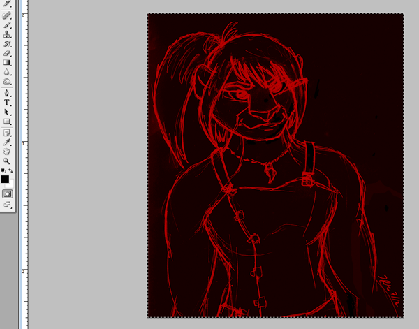 Ooooh, sinister quick mask layer!
