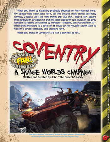 Coventry Players Guide for Savage Worlds, by The Gneech