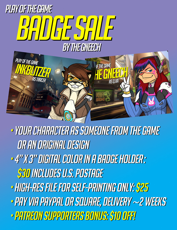 Play of the Game Badges Flyer