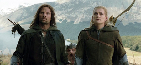 Aragorn, Gimli, and Legolas wonder WTF is this.