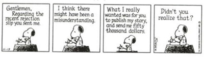 Snoopy Deals With Rejection