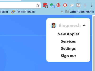 Start a new applet on IFTTT.