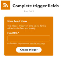 New feed item trigger selection