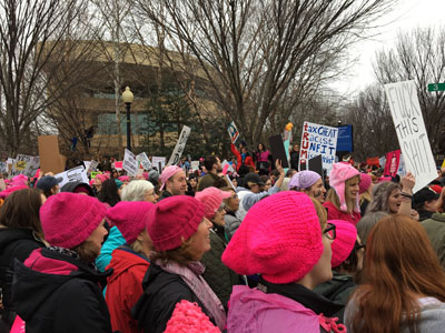 National Mall crowds, Women's March 2017