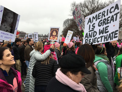 National Mall, Women's March 2017
