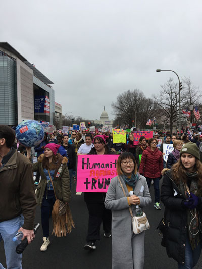 Pennsylvania Avenue, Women's March 2017