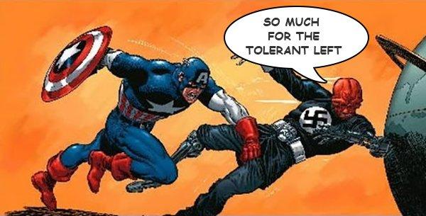So much for the tolerant left! WHAM