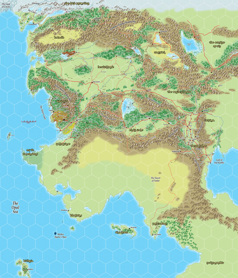 The Grand, Unified Map of Gneech's Campaign World