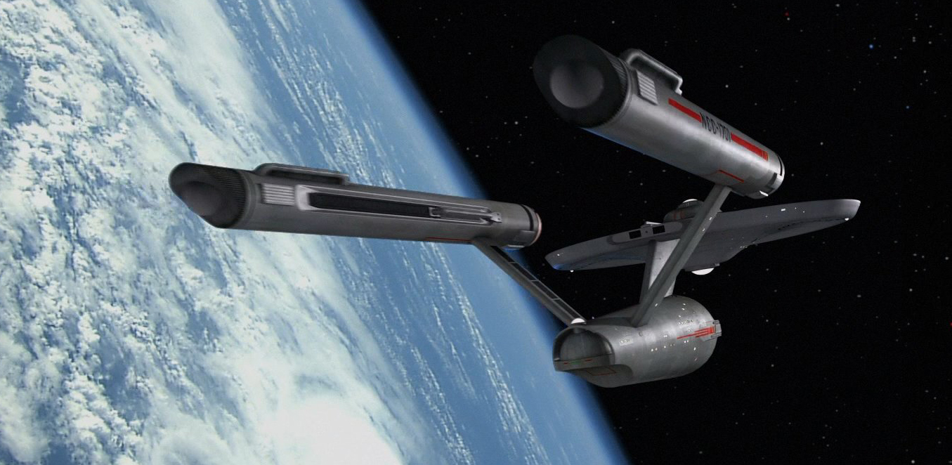 The U.S.S. Enterprise in orbit.