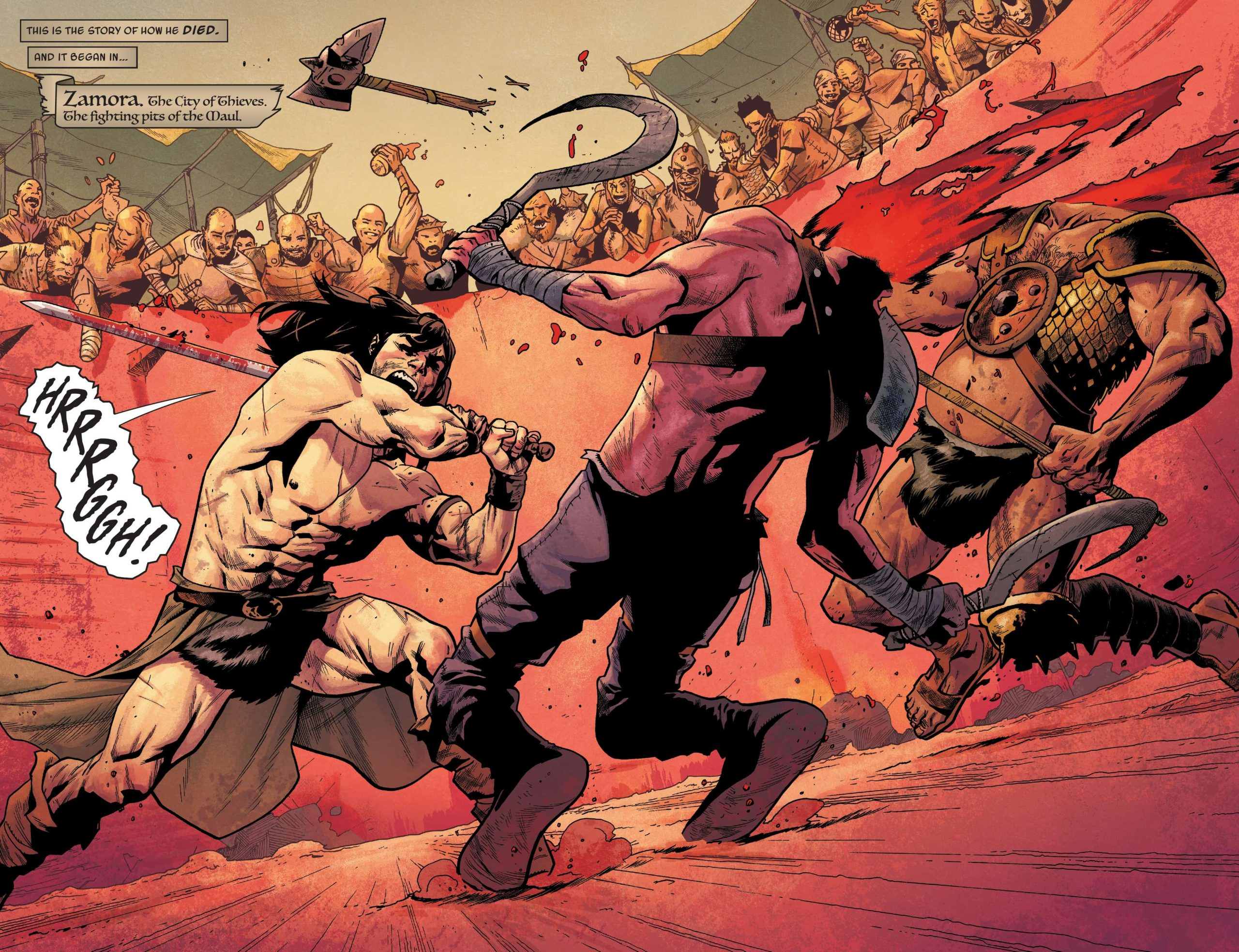 Conan Double Header, art by Mahmud Asrar and Matthew Wilson
